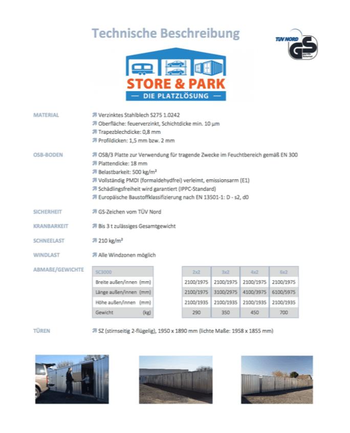 Technische Informationen unserer Container