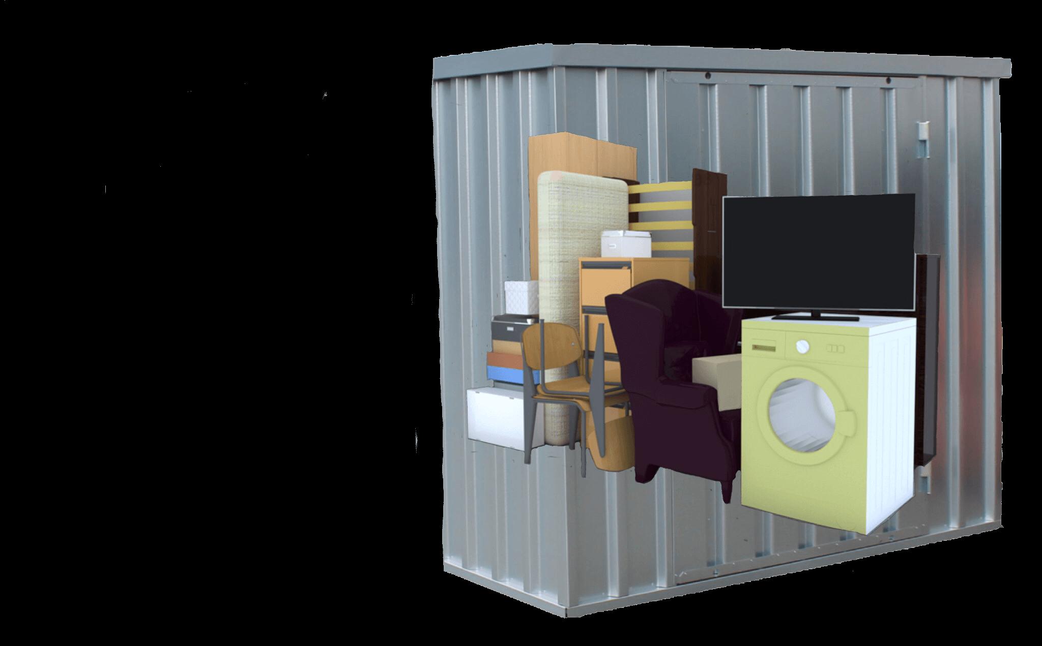 6qm (12 Kubikmeter) Lagerraum Image