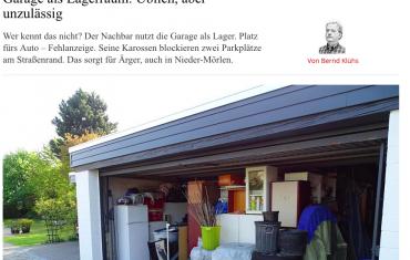 Geldstrafe von 500 Euro erhalten, wenn Sie Ihre Garage als Lagerraum nutzen.