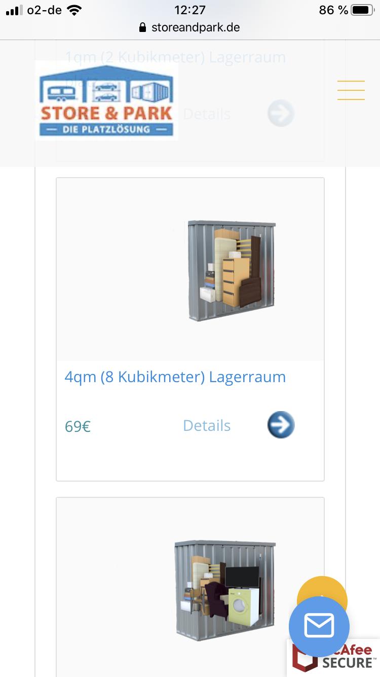 Lagerraum StoreandPark