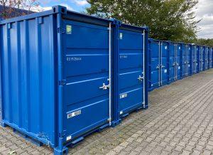 reihe container bei storeandpark celle und maintal